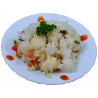 Японский рис с овощами и сыром Фото