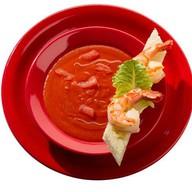 Томатный суп с креветками Фото
