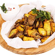 Картофель по-деревенски с грибами Фото