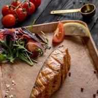Стейк из филе лосося Фото