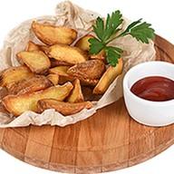 Картофель айдахо с кетчупом Фото