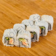 Ролл с лососем в темпуре Фото