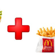 Чикенбургер,картофель фри ХМ Фото