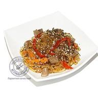 Лапша Хорусаме с овощами и говядиной Фото