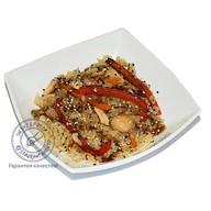 Рис Гохан с овощами и лососем Фото