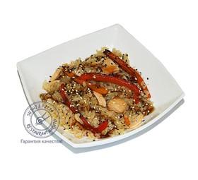 Рис Гохан с овощами и лососем - Фото