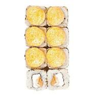 Запеченный с угрем, сливочным сыром Фото