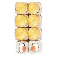 Запеченный с лососем, сливочным сыром Фото