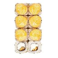 Запеченный с мидиями, сливочным сыром Фото