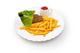 Картофель с котлетой - Фото