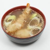 Мисо суп с гедзе- эби Фото