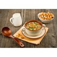 Крем суп грибной с гренками Фото