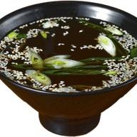 Мисо суп с тигровыми креветками Фото