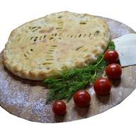 Пирог с картофелем, курицей и грибами Фото