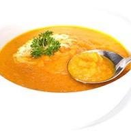 Кукурузный крем-суп с нежным крабом Фото