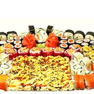 Корпоративный сет + суши пицца Фото
