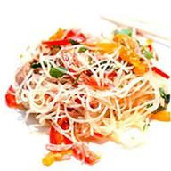 Теплый салат с хрустальной лапшой Фото