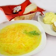 Комплексный обед с бифштексом (суп) Фото