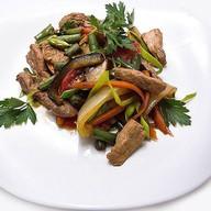 Жареная свинина с овощами Фото