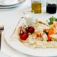Хрустящие овощи с соусом блю чиз Фото