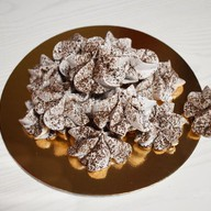 Безе шоколадное с корицей Фото