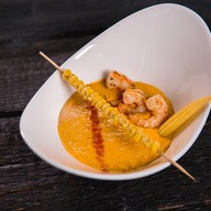 Крем-суп кукурузный с креветками Фото