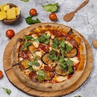 Пицца с баклажанами Фото