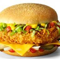 Чизбургер де люкс со стрипсами Фото